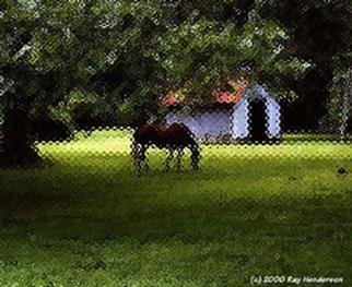 Miami Urban Life  'Grazing In Glass', created in 2000, Original Painting Oil.