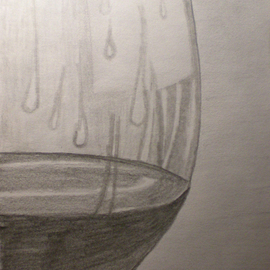 Eve Co Artwork Brandy in a Snifter  Closeup, 2009 Pencil Drawing, Still Life