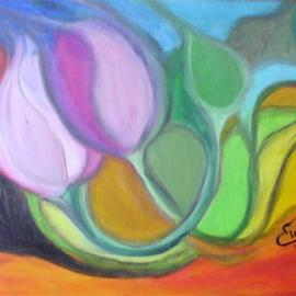 Impressionistic Tulips  By Eve Co