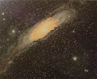 Painting by Eve Co titled: The Great Spiral in Andromeda, created in 1992