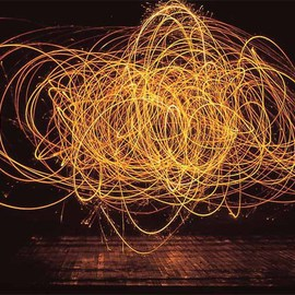 Matthew Hutton Artwork Playing With Fire, 2009 Color Photograph, Abstract