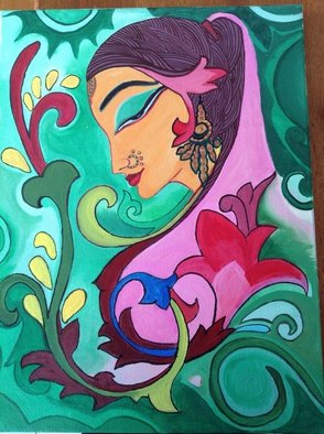 Rajita Ps Artwork Bridal, 2013 Acrylic Painting, Hindu