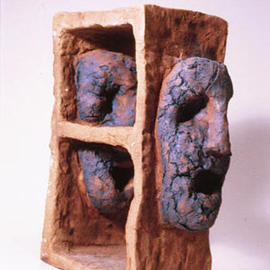 Julian Vandercook: 'Sprawl', 2003 Ceramic Sculpture, Figurative. Artist Description: Cone 10 fire with stain wash...