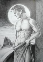 - artwork Contemplation-1361301234.jpg - 2013, Drawing Pencil, Figurative