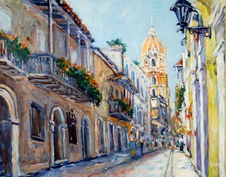 Ingrid Neuhofer Dohm: 'Cartagena', 2011 Acrylic Painting, Cityscape.   Cartagena, acrylic, canvas, cityscape, impressionism, representational decorative, contemporary, traditional, Ingrid Dohm, fine artist, fine art, original,                ...