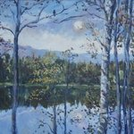 Moonlit Lake By Ingrid Neuhofer Dohm