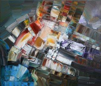 Sergei Inkatov: 'noice of music', 2012 Oil Painting, Abstract. Artist Description: abstract contemporary artwork...