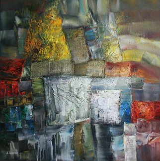 Sergei Inkatov: 'the dawn', 2015 Oil Painting, Abstract. Artist Description: Contemporary abstract painting...