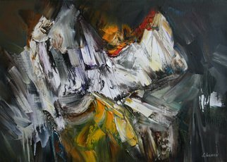 Sergei Inkatov: 'white cliffs', 2012 Oil Painting, Abstract. Artist Description: Contemporary abstract work...