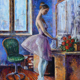 ballerina with a letter