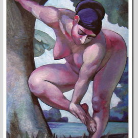 Jury Inushkin: 'Bather', 2007 Oil Painting, nudes. Artist Description:  Oil on canvas ...