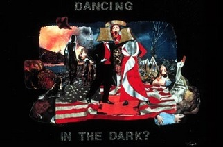 Collage by Ione Citrin titled: Dancing in the Dark , created in 2009