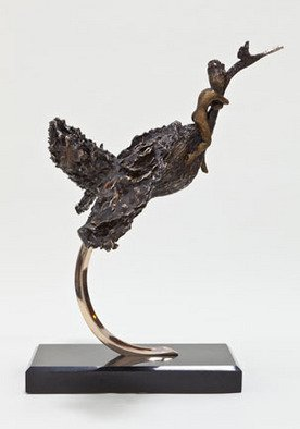 Bronze Sculpture by Ione Citrin titled: Escape, 2012