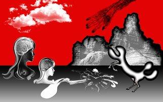 Iqbal Gurtu Artwork EXCITEMENT OF BRAIN NERVES, 2013 Mixed Media, Surrealism
