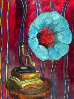 Surrealism Oil Painting by Irakli Chkheidze Title: Sounds of past , created in 2012