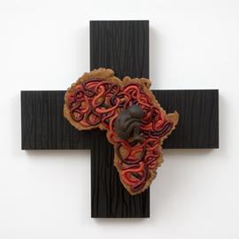 Irene Gennaro: 'Sudan', 2008 Wood Sculpture, Abstract Figurative. Artist Description:  Impermanence Series. The Impermanence Series is the latest group I have created. It incorporates the iconic crucifix with anatomical attributions.