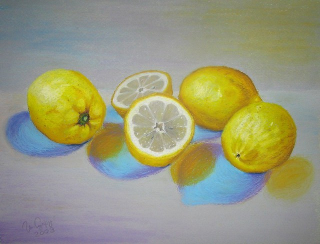 Irene Suprun  'Lemons', created in 2009, Original Pastel.