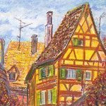 Roofs of Kaysersberg By Irina Maiboroda