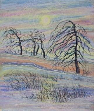 Irina Maiboroda: 'Spring Is Coming', 2016 Pastel Drawing, Landscape.  landscape, abstract, impression, colorful, sun, morning, spring, forestwork is shipped with passepartout 50 A-- 40 cm      ...