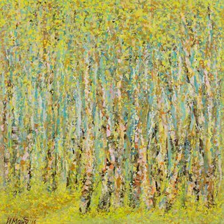 Irina Maiboroda Artwork a birch grove, 2017 Mixed Media, Abstract Figurative