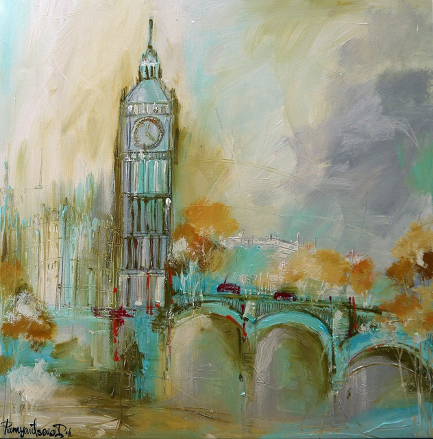 Irina Rumyantseva  'London Gold', created in 2015, Original Painting Acrylic.