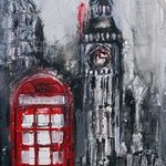 Red Telephone Box By Irina Rumyantseva
