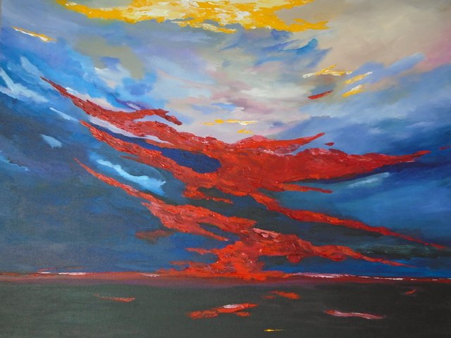 Conor Murphy  'Sunset Over Ireland', created in 2017, Original Painting Acrylic.