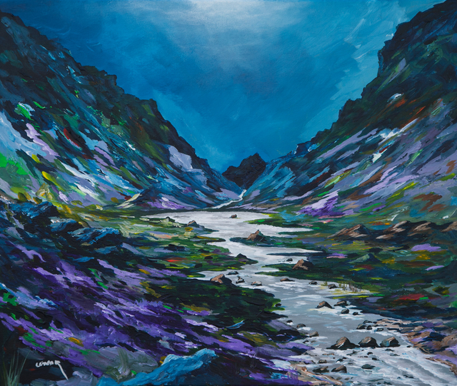 Conor Murphy  'The Gap Of Dunloe', created in 2019, Original Painting Acrylic.