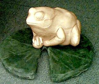 Animals Stone Sculpture by Martin Glick titled: Foo Frog, created in 2001