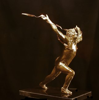 Martin Glick: 'The Winner', 2008 Bronze Sculpture, Sports.  In