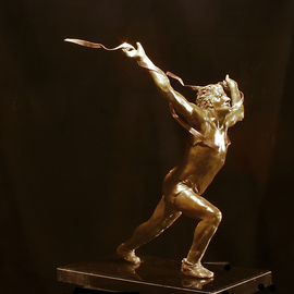 Martin Glick: 'The Winner', 2008 Bronze Sculpture, Sports. Artist Description:  In