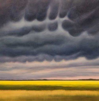 Ian Sheldon: 'Storm Warning', 2010 Oil Painting, Landscape.