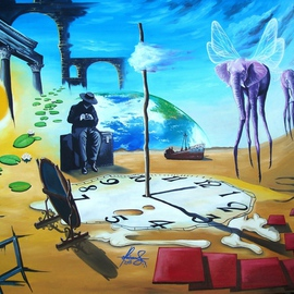 Raceanu Mihai: 'The Tourist', 2011 Oil Painting, Surrealism.