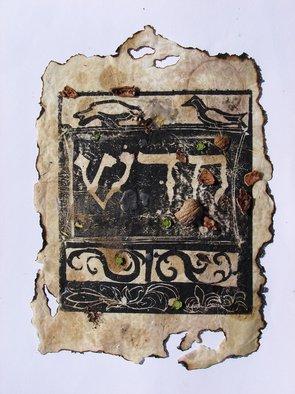Tamar Sorkin Artwork Haggada woodcut 1, 2008 , Judaic