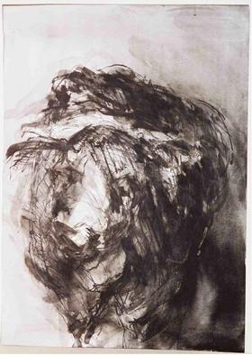 Tamar Sorkin Artwork 'Meirs cow', 1990. Ink Painting. Animals. ...