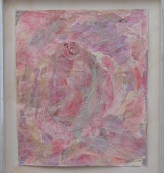 Collage by Tamar Sorkin titled: The inner pink, created in 1999