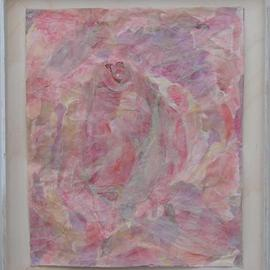 Tamar Sorkin Artwork The inner pink, 1999 Collage, Abstract