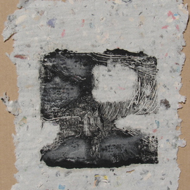 abstract print on handmade paper By Tamara Sorkin
