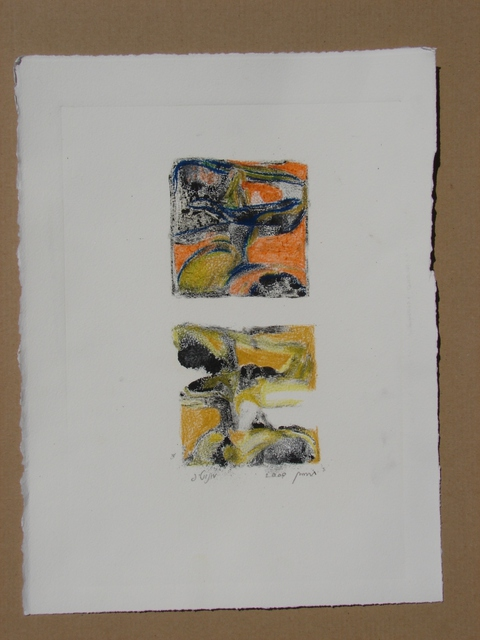 Tamara Sorkin  'Double Monoprint', created in 2009, Original Drawing Other.