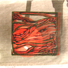 linocut on newspaper 2  By Tamara Sorkin