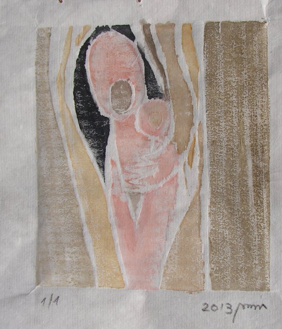 Artist Tamara Sorkin. 'Mother And Child' Artwork Image, Created in 2013, Original Drawing Other. #art #artist