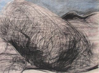 Tamara Sorkin: 'nude landscape 1', 2008 Other Drawing, Abstract Figurative.   shown during january at Gallerina gallery, Bat shlomo...