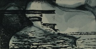 Tamar Sorkin Artwork woodcut on ink drawing, 2009 Mixed Media, Abstract