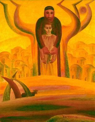 Artist: Israel Tsvaygenbaum - Title: Abraham and Isaac - Medium: Oil Painting - Year: 2001