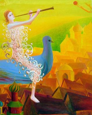 Artist: Israel Tsvaygenbaum - Title: Flight of the Soul - Medium: Oil Painting - Year: 2006