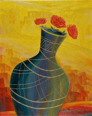 Artist: Israel Tsvaygenbaum - Title: Roses - Medium: Oil Painting - Year: 2002