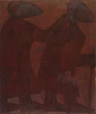 Artist: Israel Tsvaygenbaum - Title: The Blind Men - Medium: Oil Painting - Year: 1992