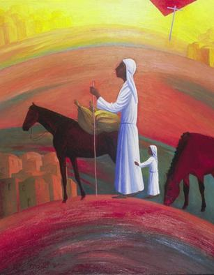 Artist: Israel Tsvaygenbaum - Title: The Wandering Mary Magdalene - Medium: Oil Painting - Year: 2007