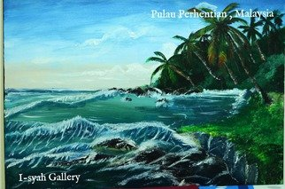 Nor Aishah Alli: 'IGKL01', 2016 Oil Painting, Beach. Artist Description:  I- syah is a one of lanscaping photographer. From my experience doing of mother nature photoshoot , i translate this experience into painting. A  ...