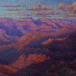 Grand Canyon at Sunset By Roberto Ruschena